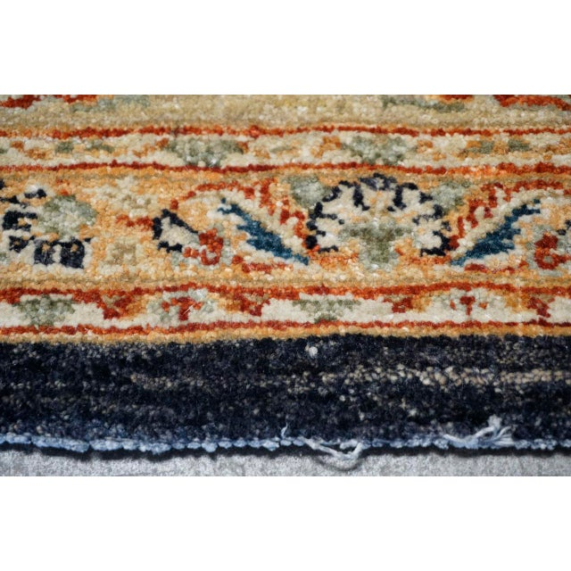 8' X 9' Vintage Wool Peshawar Oriental Rug For Sale - Image 10 of 11