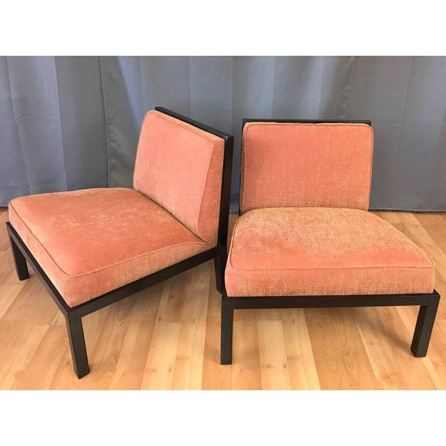 Orange Michael Taylor for Baker Far East Collection Slipper Chairs - A Pair For Sale - Image 8 of 13