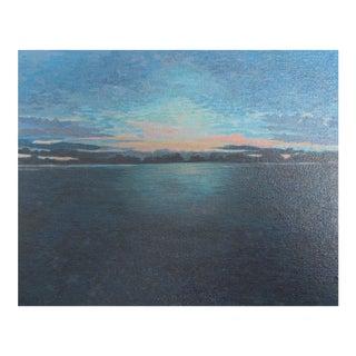 "Small Original ""Pink Sky Dark Water"" Painting"