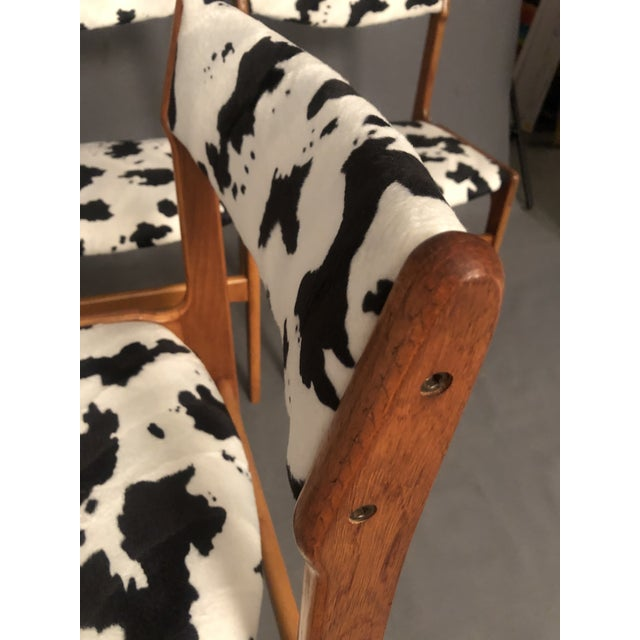 Black Vintage Mid Century Curated Teak Danish Dining Chairs- Set of 4 For Sale - Image 8 of 12