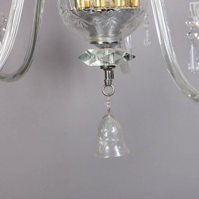 Oversized European Ten-Light Crystal Chandelier, 20th Century For Sale - Image 10 of 11