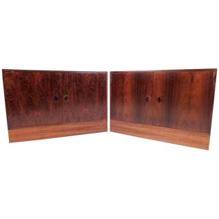 Pair of Scandinavian Modern Rosewood Cabinets For Sale