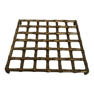 Brass Bamboo Style Trivet