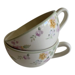 Ralph Lauren American Living Meadow Cups & Saucers - a Pair For Sale