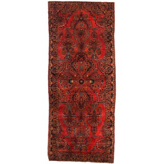 Early 20th Century Antique Persian Sarouk Rug - 2′6″ × 6′2″ For Sale