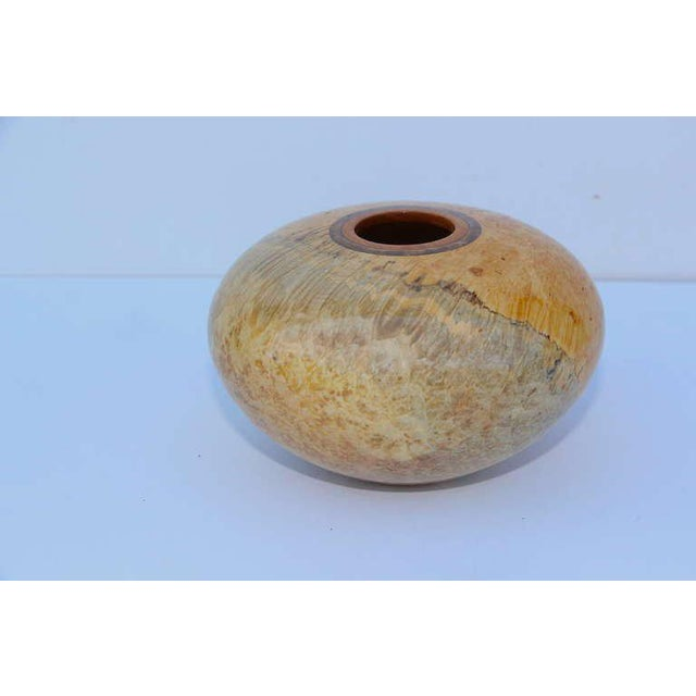 John Mascoll John Mascoll Box Elder Hand Turned Vessel For Sale - Image 4 of 4