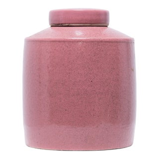 Dusty Rose Tea Shop Jar For Sale