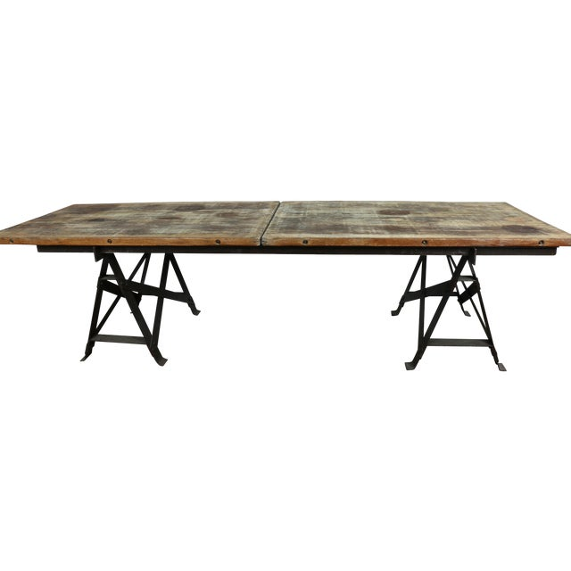 Vintage Industrial Table - Image 1 of 11