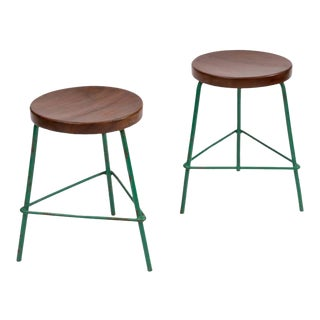 Pair of Stools by Pierre Jeanneret for College of Architecture, Chandigarh For Sale