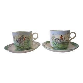 1930s Vintage English Hunt Tea Set- 4 Pieces For Sale