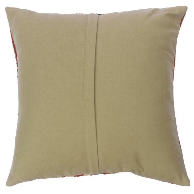 """2010s Christen Gold/Lt. Blue Hand-Woven Kilim Throw Pillow(18""""x18"""") For Sale - Image 5 of 6"""