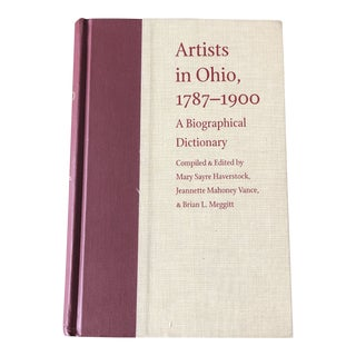 Artists in Ohio 1787-1900 a Biographical Dictionary For Sale