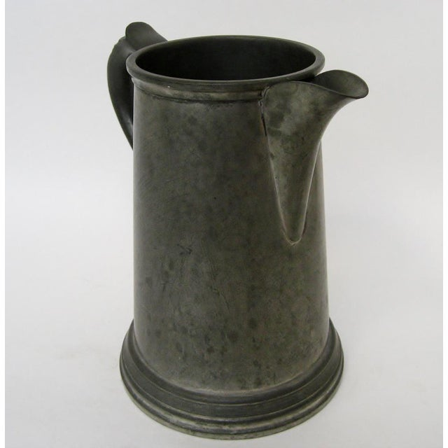 English Traditional Vintage Sheffield Pewter Pitcher For Sale - Image 3 of 8