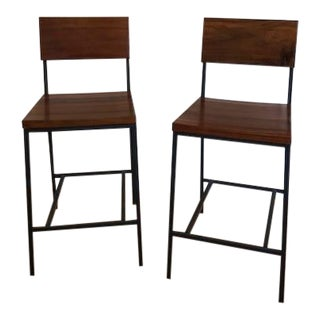 West Elm Counter Stools- A Pair For Sale