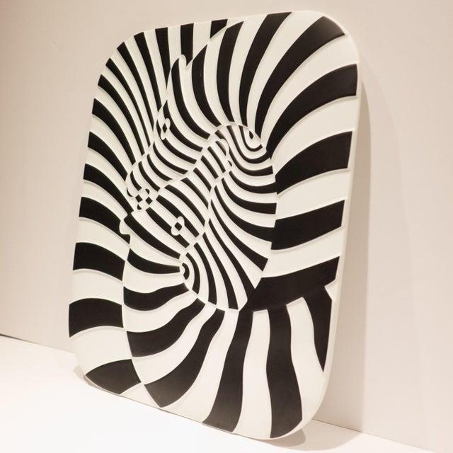 Op Art Victor Vasarely Op Art Plaque for Rosenthal For Sale - Image 3 of 7