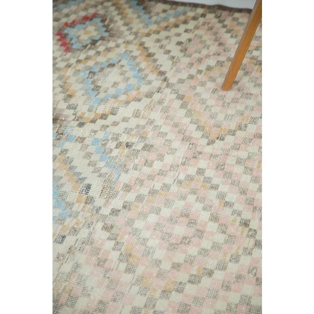"Vintage Oushak Distressed Square Rug - 5'4"" X 5'5"" - Image 7 of 7"