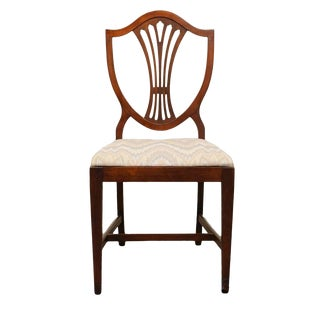 Late 20th Century Vintage Ducan Phyfe Shield Back Mahogany Dining Chair For Sale