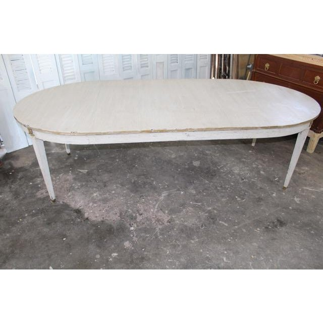 White 18th Century French Provincial Oval Dining Table For Sale - Image 8 of 8