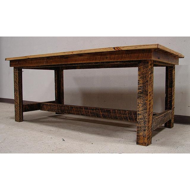 Reclaimed Harvest Farm Table - Image 3 of 3