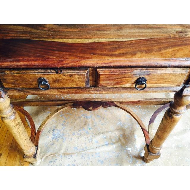 Antique Oak Hall Desk - Image 5 of 7