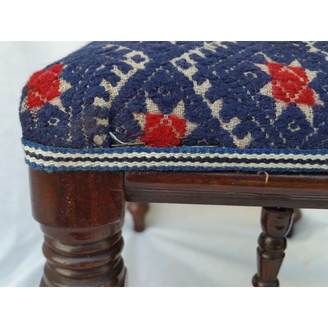 Victorian Embroidered Foot Stool - Image 6 of 7