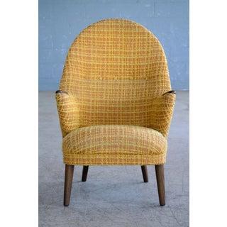 Danish Mid-Century Hans Wegner Style Mama Bear Lounge Chair 1960's Preview
