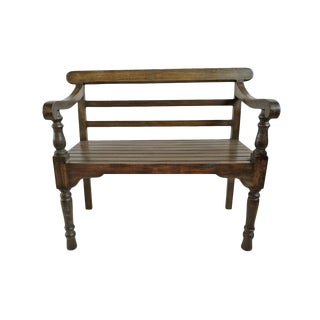 Vintage Colonial Short Bench For Sale