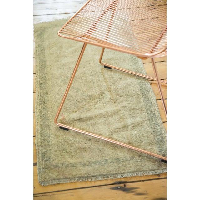 """Vintage Oushak Rug Runner - 1'9"""" x 3'9"""" For Sale - Image 4 of 5"""