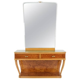 Italian Mid-Century Dressing Table and Mirror, 1950s For Sale