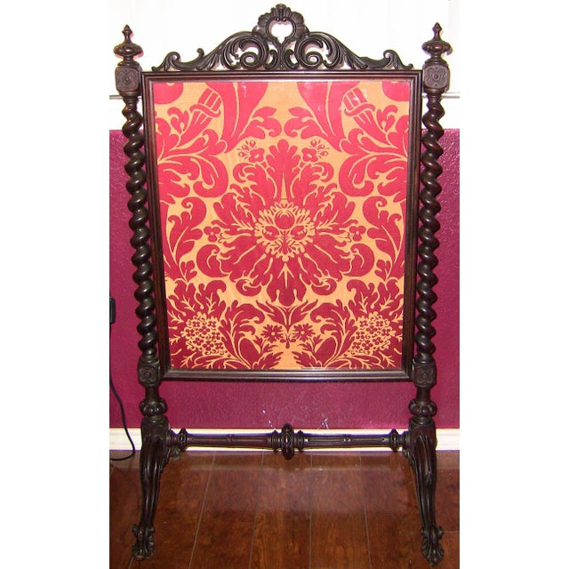 Mid 19c American Rococco Revival Fire Screen For Sale - Image 10 of 10