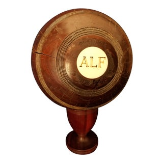 Edwardian Monogrammed Lawn Bowl For Sale
