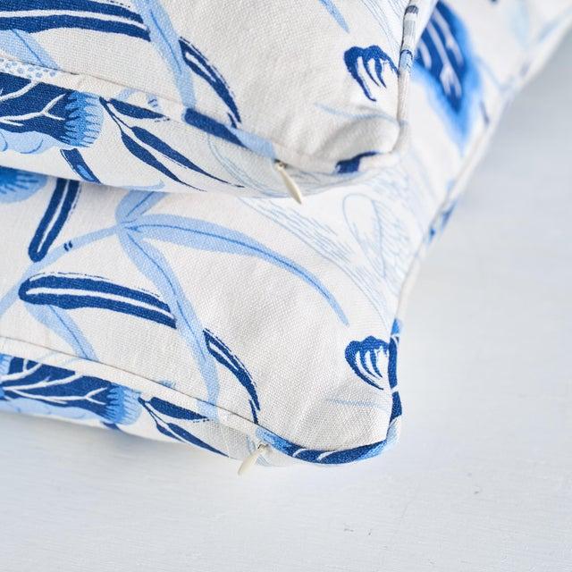 Schumacher Schumacher Lotus Garden Pillow in Porcelain For Sale - Image 4 of 6