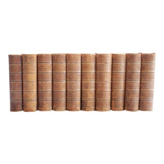 Bancroft Works Antique Leather Bound Books - Volumes 11 - 20 For Sale