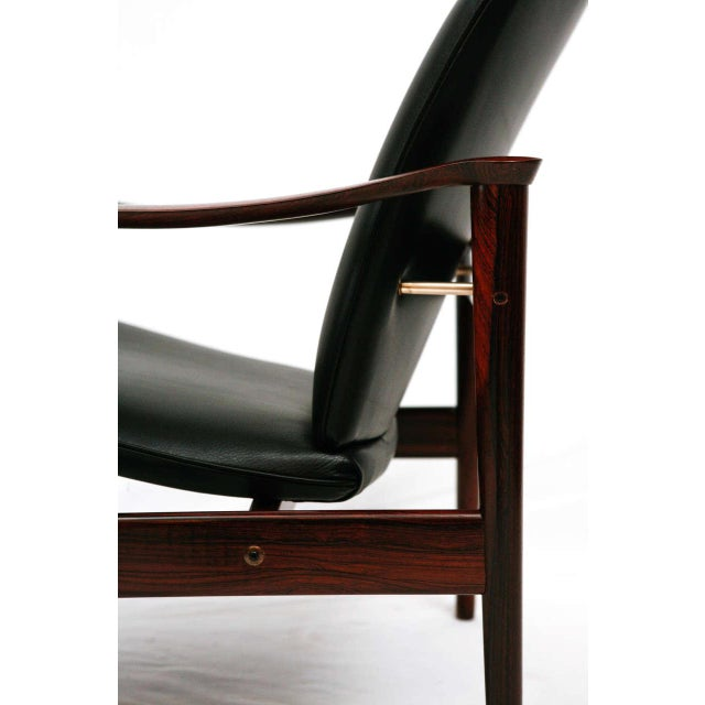 Black Frederik Kayser Rosewood Lounge Chair For Sale - Image 8 of 10