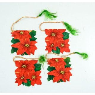 Poinsettia Bridge Tally Cards - Set of 4 Preview