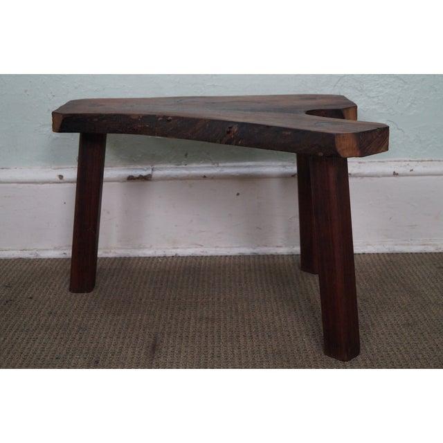 Vintage Walnut Free Form Slab Side Table - Image 2 of 10