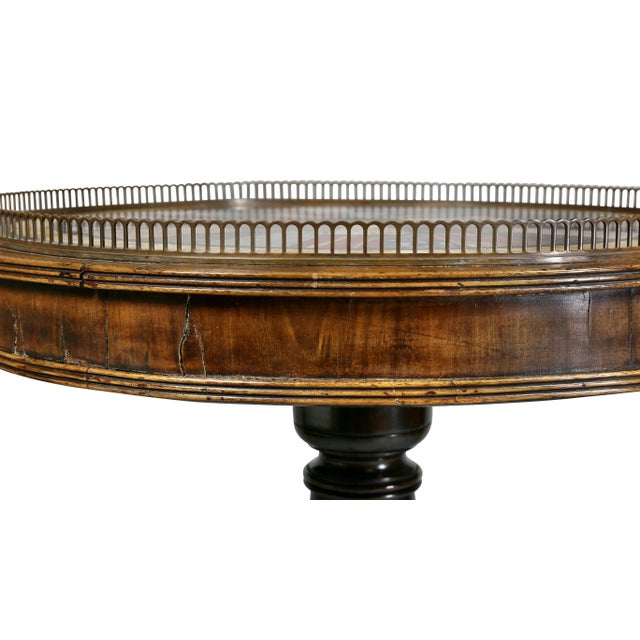 Early 19th Century Regency Rosewood and Specimen Marble Top Table For Sale - Image 5 of 9