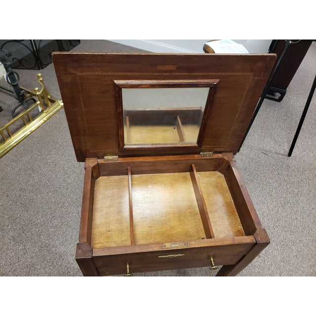 Antique 19th Century Inlaid Wooden Dressing/Vanity Table For Sale In New York - Image 6 of 13