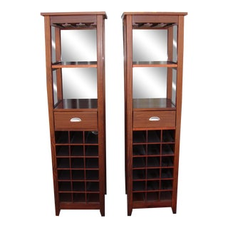 1980s Wooden Wine Cabinets - a Pair For Sale