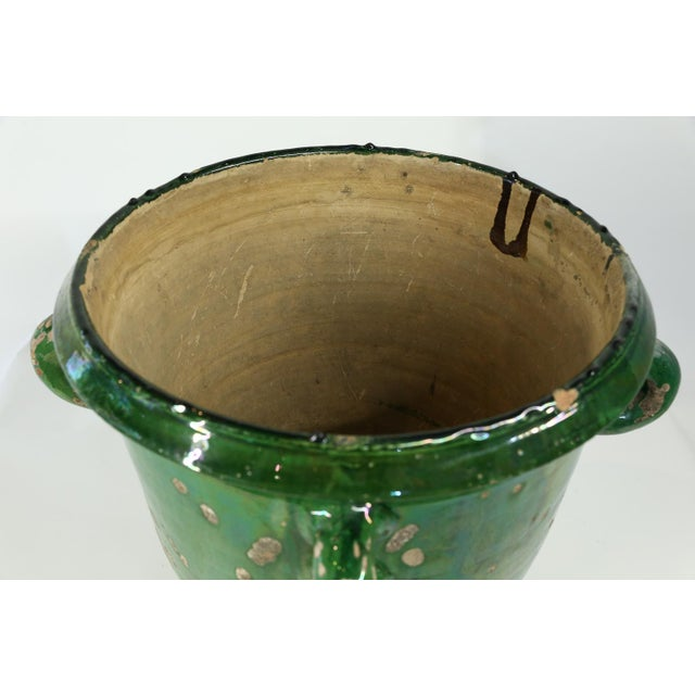 French Glazed Terracotta Planter from Anduze, France For Sale - Image 3 of 8