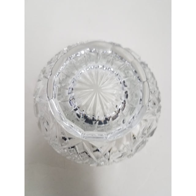 English Antique English Crystal Flower Frog For Sale - Image 3 of 7