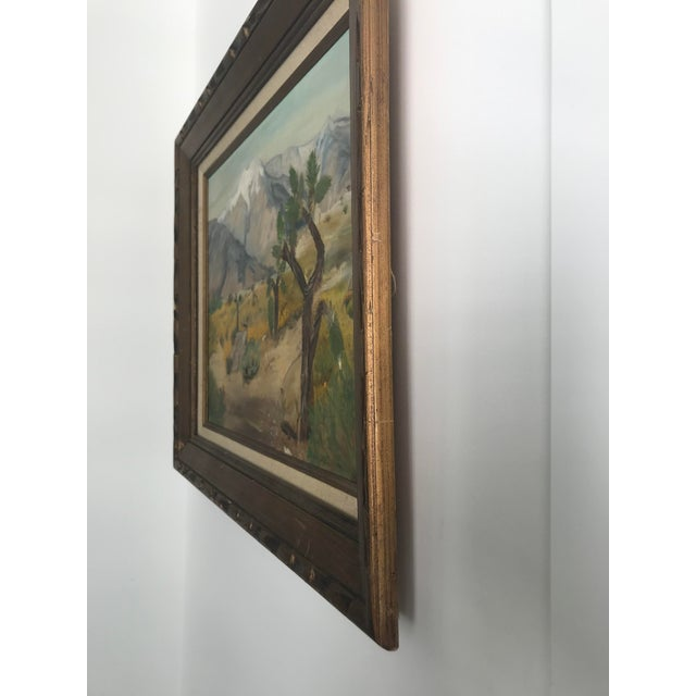 Vintage Plein Aire Signed Oil Painting on Canvas For Sale In Los Angeles - Image 6 of 8