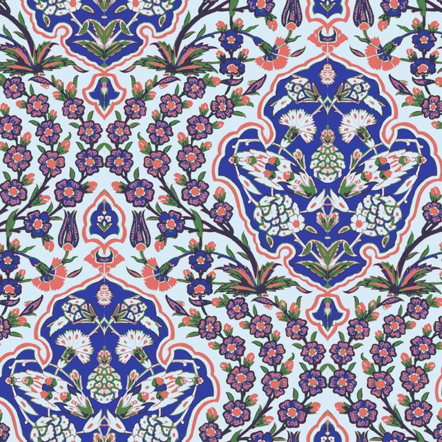 Ottoman Large Wallpaper Remnant - Image 2 of 3