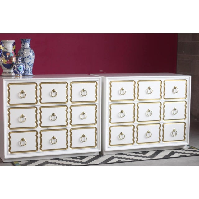Super excited to offer this *Pair* of 100% genuine Dorothy Draper Espana chests. These are NOT imposters - and you will...