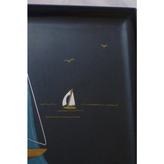 Mid-Century Couroc Sailboat Serving Tray - Image 4 of 10