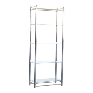 Mid Century Vintage Chrome & Glass Bookshelf