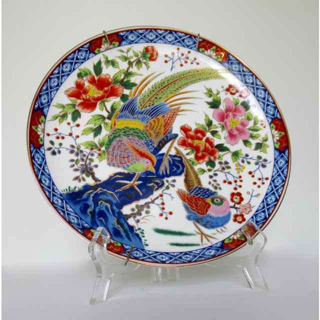 c.1950s-60s; Vintage, hand-pianted porcelain Japanese Imari, decorative wall plate, buffet breakfront server accent piece,...