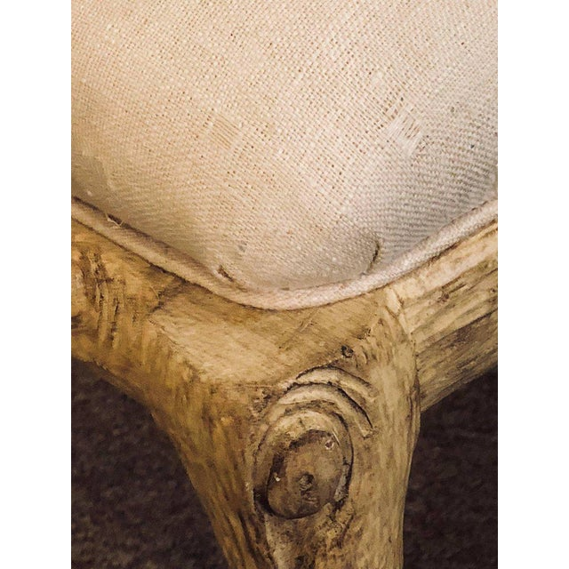 Hollywood Regency Style Tree Trunk Form Designed Arm / Desk Chairs - a Pair For Sale - Image 12 of 14