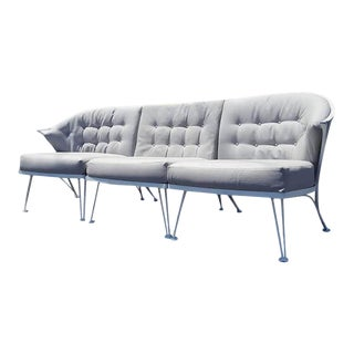 Vintage Woodard Three Piece Iron Sofa For Sale