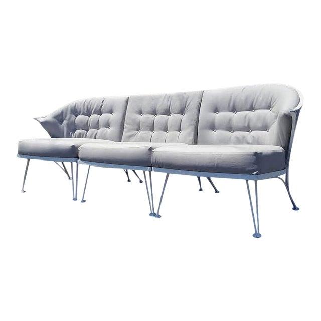 Vintage Woodard Three Piece Iron Sofa For Sale